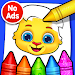 Download Coloring Games: Coloring Book, Painting, Glow Draw APK