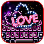 Cover Image of Download Neon Love Hearts Keyboard Theme APK
